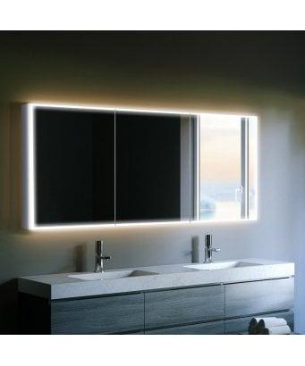 HIB Qubic LED Mirror Cabinet