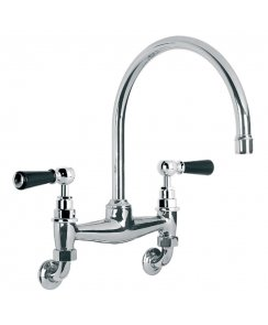 Black Ceramic Lever Kitchen Bridge Mixer