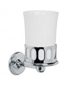 Classic Fine Bone China Tumbler with Holder