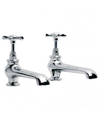 Lefroy Brooks Classic Long Nose Bath Pillar Taps