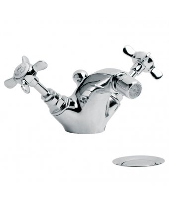 Lefroy Brooks Classic Monobloc Bidet Mixer with Pop-Up Waste