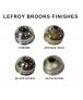"""Lefroy Brooks Classic Porcelain Handled 2 1/2"""" Apron Rose Handset"""