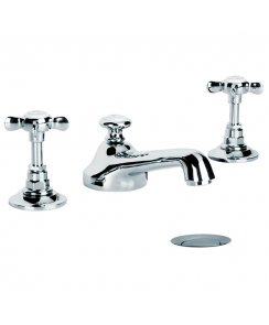 Classic Three Hole Basin Mixer with Pop-Up Waste