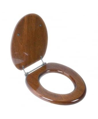 Lefroy Brooks Classic Toilet Seat - Mahogany
