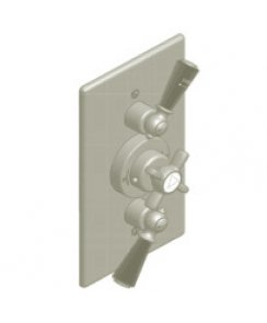Concealed Black Lever Dual Flow Control Thermostatic Mixing Valve