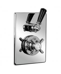 Concealed Black Lever Thermostatic Mixing Valve