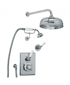 Concealed Godolphin Thermostatic Mixing Valve & Dual Shower Kit