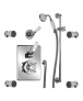 Lefroy Brooks Concealed Godolphin Thermostatic Mixing Valve with Four Body Jets & Sliding Rail (Order Handset Seperately)
