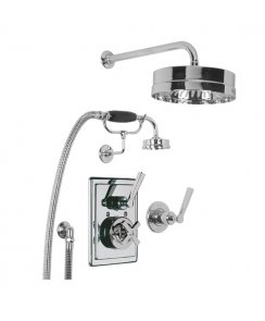 "Concealed Mackintosh Thermostatic Mixing Valve with 8"" Headset & Shower Kit"