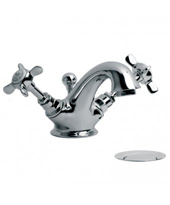 Lefroy Brooks Connaught Monobloc Basin Mixer with Pop-Up Waste