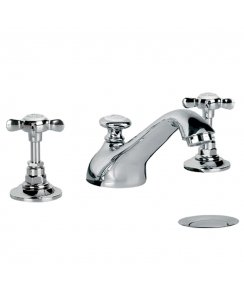 Edwardian Three Hole Basin Mixer with Pop-Up Waste