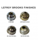 Lefroy Brooks Mackintosh Hand Flow Control Valve with Engraved Wall Plate