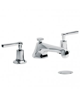Lefroy Brooks Mackintosh Lever Three Hole Basin Mixer with Pop-Up Waste