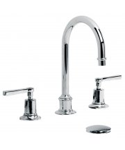 Mackintosh Lever Tubular Three Hole Basin Mixer with Click-Up Waste