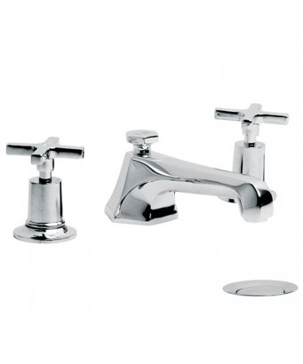 Lefroy Brooks Mackintosh Three Hole Basin Mixer with Pop-Up Waste