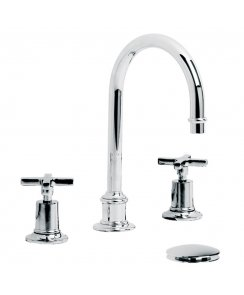 Mackintosh Tubular Three Hole Basin Mixer with Click-Up Waste