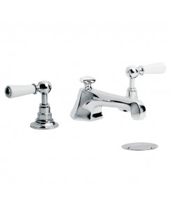 Mackintosh White Lever Three Hole Basin Mixer with Pop-Up Waste