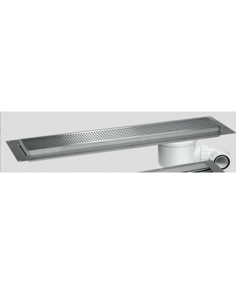 McAlpine Shower Channel Drain For Tiled Floors - 600mm to 1200mm - Grid Top