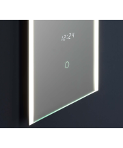 Gemini LED Mirror with Clock